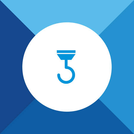 fishinghook: Hook Icon on Blue Colored Background.