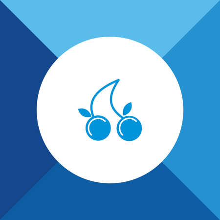 blue berry: Berry Icon on Blue Background. Eps-10.