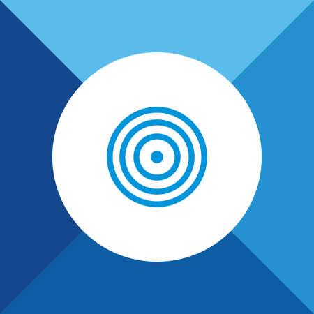 bulls eye: Bulls Eye Icon On Blue Background.