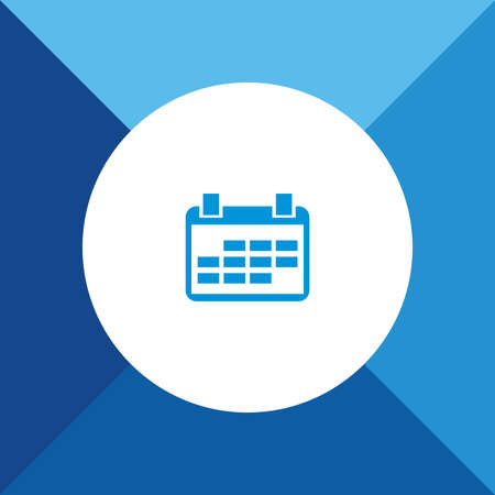 calender icon: Calender Icon On Blue Background. Eps-10.
