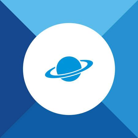 globus: Jupiter Icon On Blue Background. Eps-10. Illustration
