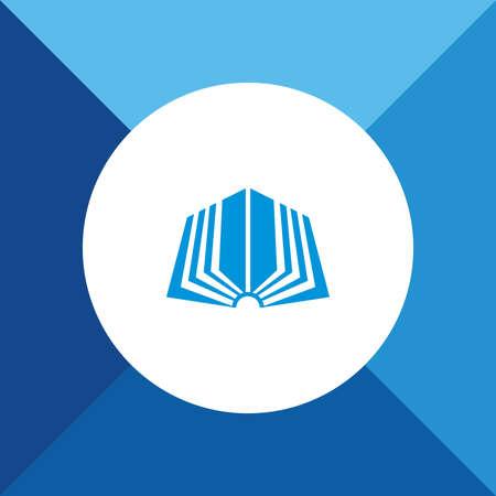 e reader: Book Icon On Blue Background. Eps-10. Illustration