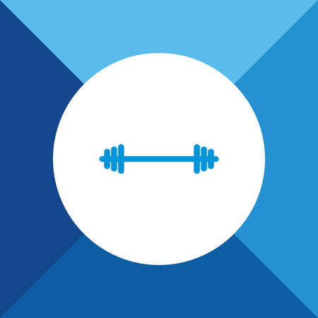 Weight Icon On Blue Background. Eps-10.