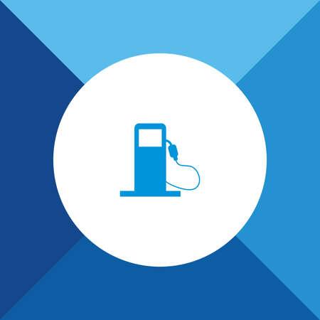 filling station: Filling Station Pump Icon On Blue Background.