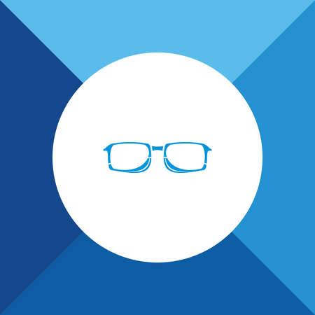 wayfarer: Glasses icon on blue color background