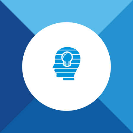 skulp: Idea & bulb icon on blue color background