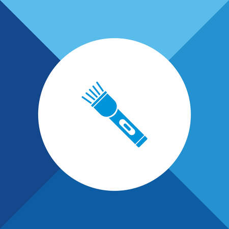 electric torch: Electric Torch  icon on blue color background
