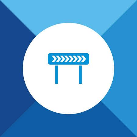 diversion: Right Diversion icon on blue color background Illustration
