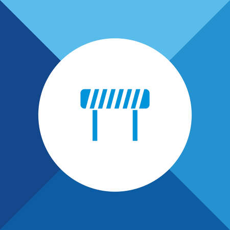 roadblock: Roadblock  icon on blue color background Illustration