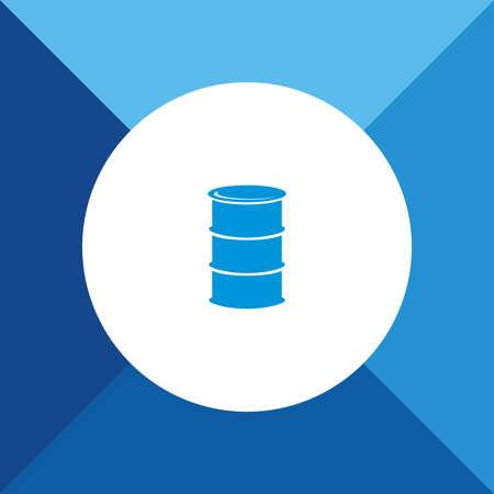 oliedrum: drum (Oil Barrel) pictogrammen op blauwe kleur achtergrond