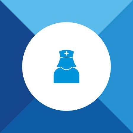 Nurseicon on blue color background Vector