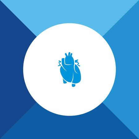 cardioid: Icono del corazón humano en el fondo de color azul