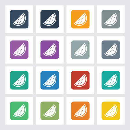 pulpy: Very Useful Flat Icon  of Watermelon  with Different UI Colors.