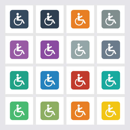 paralyze: Very Useful Flat Icon of Wheel Chair with Different UI Colors.