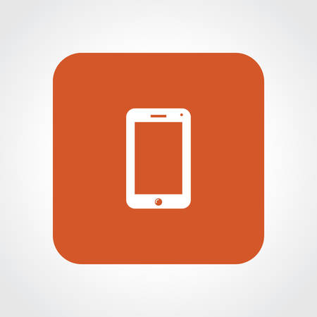Very Useful Flat Icon of Smart Phone. Stock Illustratie