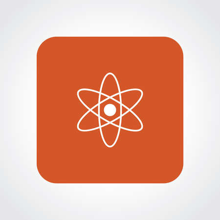 Very Useful Flat Icon of Atom. Vector