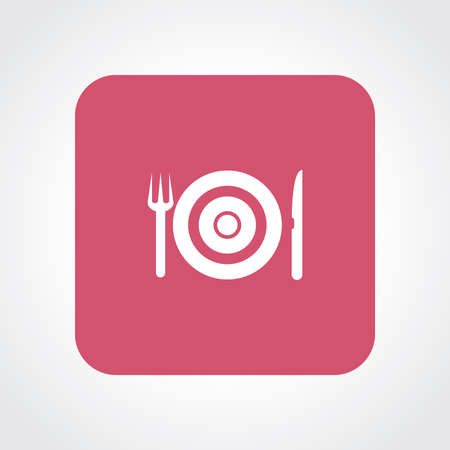 Very Useful Flat Icon of Restaurant. Vector