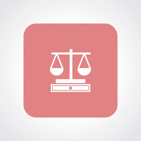 convicted: Very Useful Flat Icon of Scale. Illustration