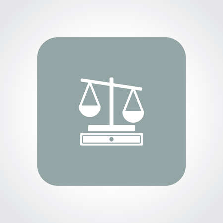 acquittal: Very Useful Flat Icon of Scale. Eps10. Illustration