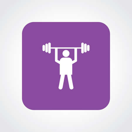 weight lifter: Very Useful Flat Icon of Weight Lifter.