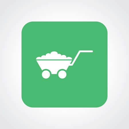 pushcart: Very Useful Flat Icon of Utility Trolley. Eps10. Illustration