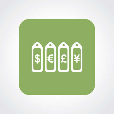 Very Useful Flat Icon of Currency tag. Eps10.