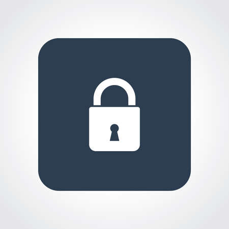 useful: Very Useful Flat Icon of Lock. Eps10.