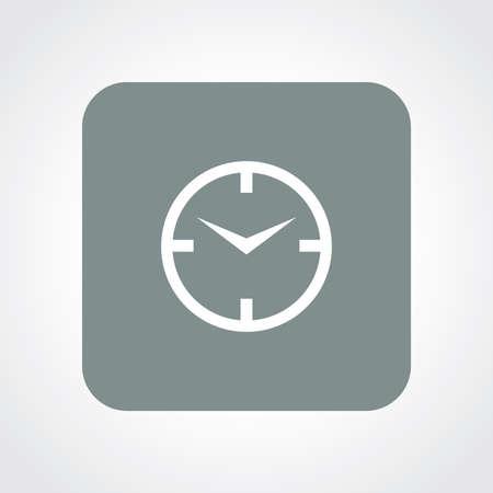 winder: Very Useful Flat Icon of Clock. Eps10. Illustration