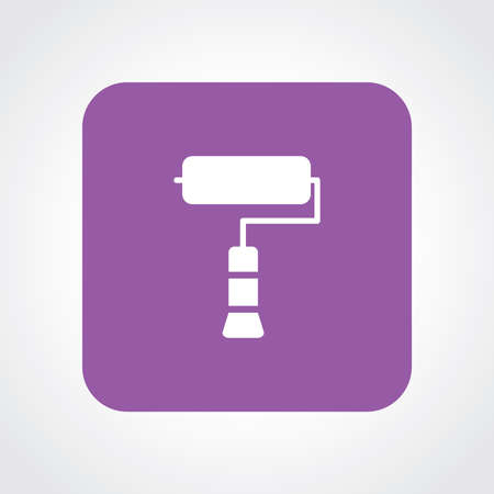 redecorate: Very Useful Flat Icon of Roller Paint Brush. Eps10. Illustration
