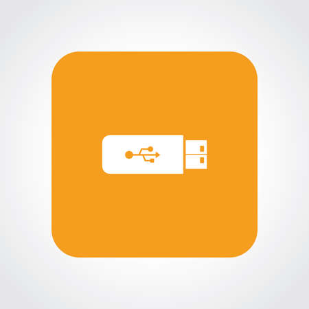 pen drive: Very Useful Flat Icon of Pen Drive USB. Eps10.