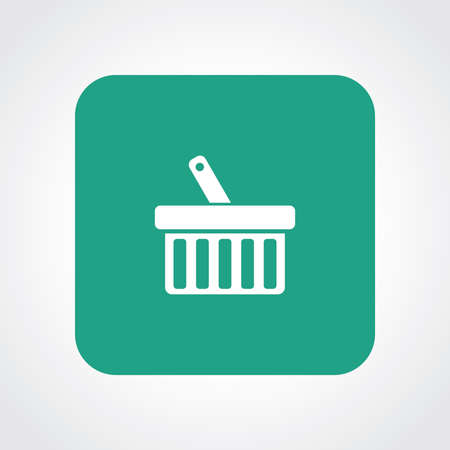 Very Useful Flat Icon of Shopping Basket. Eps10. Vector