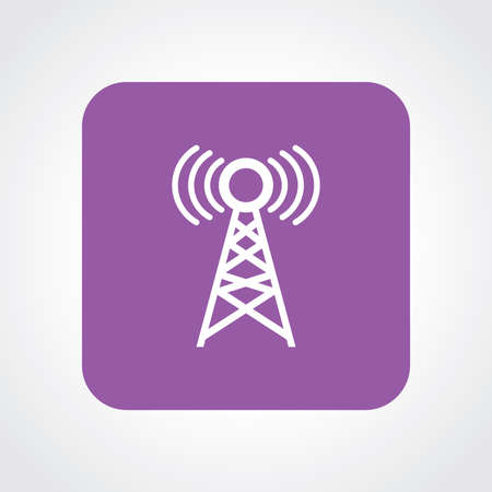 cellular repeater: Very Useful Flat Icon of Network Tower. Eps10.