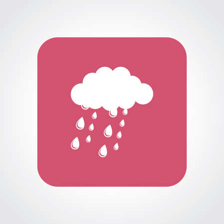 whether: Very Useful Flat Icon of Whether Rainy Clouds. Eps10. Illustration
