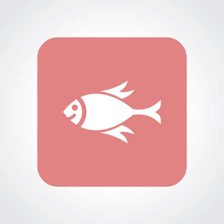 eps10: Very Useful Flat Icon of Fish. Eps10.