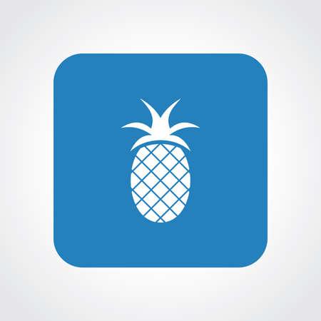 Very Useful Flat Icon of Pineapple.