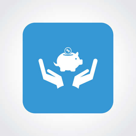 Very Useful Flat Icon of Save money .