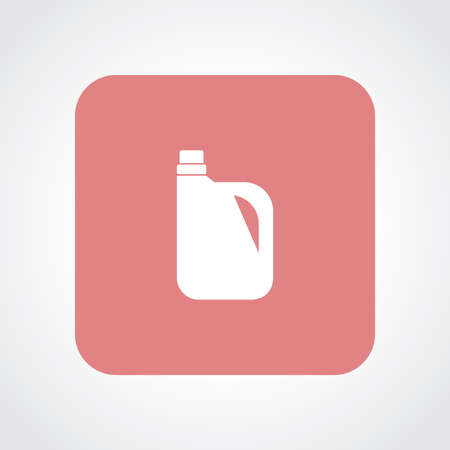 cleanser: Very Useful Flat Icon of Oil can. Illustration