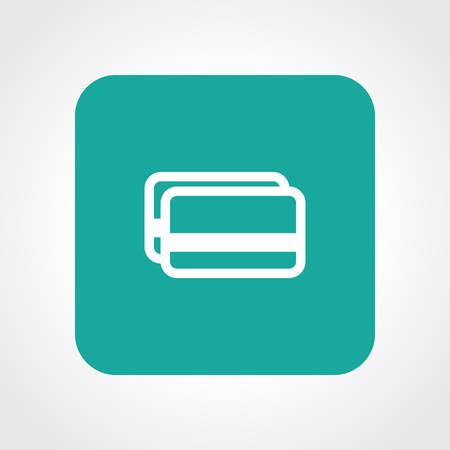 Very Useful Flat Icon of Credit card. Eps10. Vector