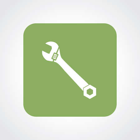 implement: Very Useful Flat Icon of Wrench.