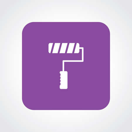 paintroller: Very Useful Flat Icon of Roller Paint Brush. Eps10. Illustration