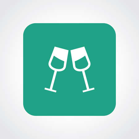Very Useful Flat Icon of Drink glass. Eps10. Illustration
