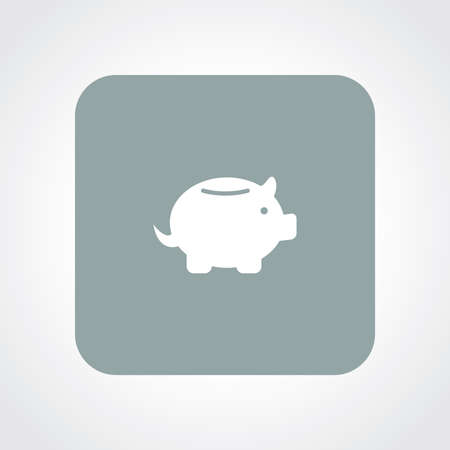 useful: Very Useful Flat Icon of Piggy bank.
