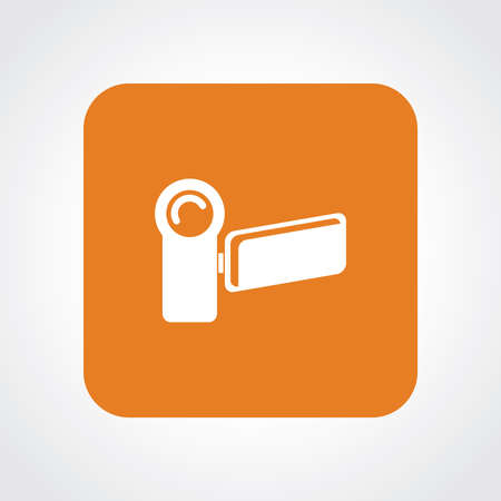 useful: Very Useful Flat Icon of Video camera.  Illustration