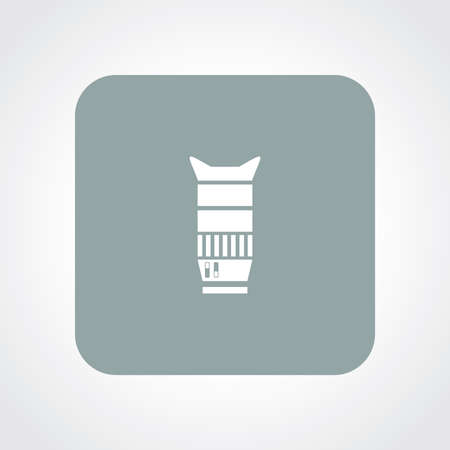 focal: Very Useful Flat Icon of Camera lens.