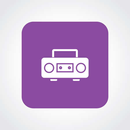 cd recorder: Very Useful Flat Icon of Cassette player.