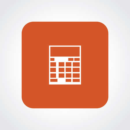 Very Useful Flat Icon of Calculator.  Illustration
