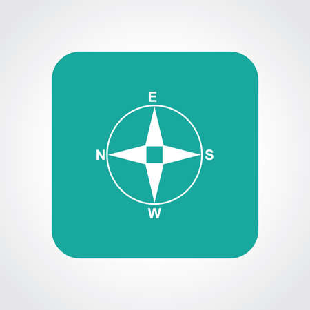 Very Useful Flat Icon of Direction Compass.