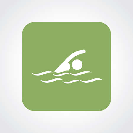 pool player: Very Useful Flat Icon of Swimmer . Eps10.