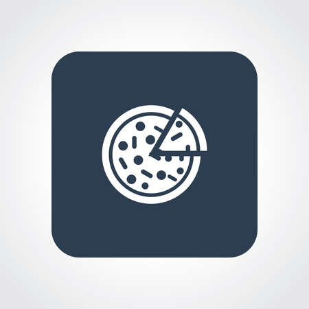 Very Useful Flat Icon of Pizza . Eps10. Vector