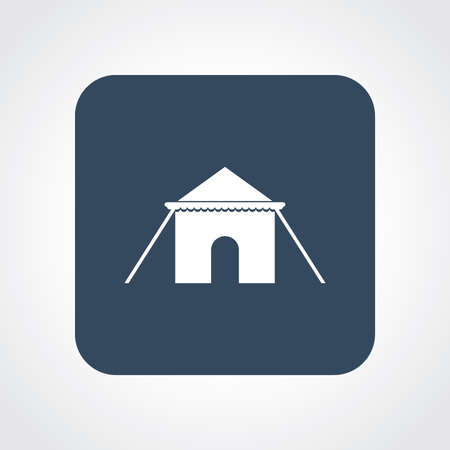 cirque: Very Useful Flat Icon of Tent. Eps10.